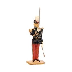 """Le garde au drapeau au """"Présentez sabres"""""""