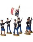 Figurines soldats de plomb gendarmerie