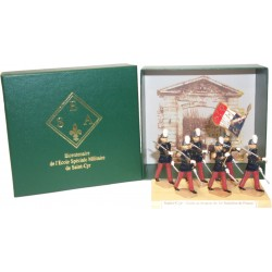 Coffret de luxe de la Garde au drapeau d'avant 1983 au défilé